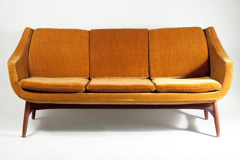 Yellow Scandinavian Modern 3-seater Sofa