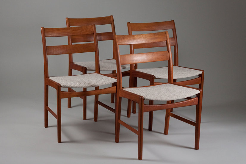 Danish teak dining chairs scandinavian nordic midcentury modern vintage retro upholstered peerfect