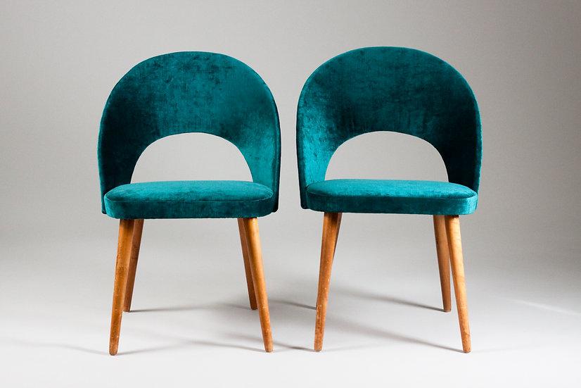 Oswald Haerdtl Thonet midcentury modern vintage 50s velvet upholstery