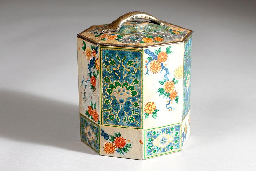 Decorative 20th Century Enamel Tea Jar