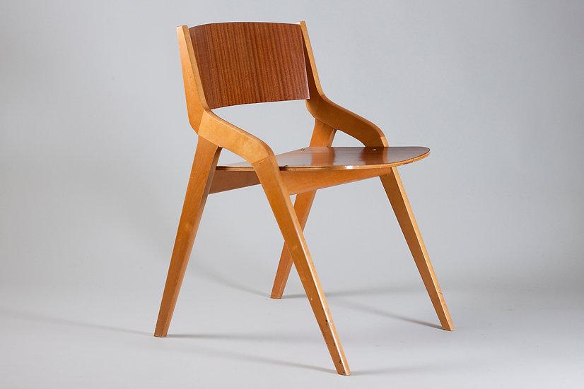 MId-Century Modern Mahogany Chair