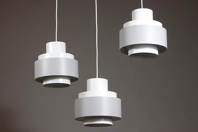 Set of Ten 1950s Pendant Lights by ITSU, Finland