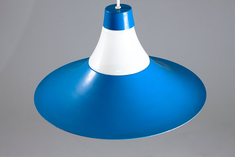 Blue Mid-Century Modern Pendant Light by ARIS, Finland