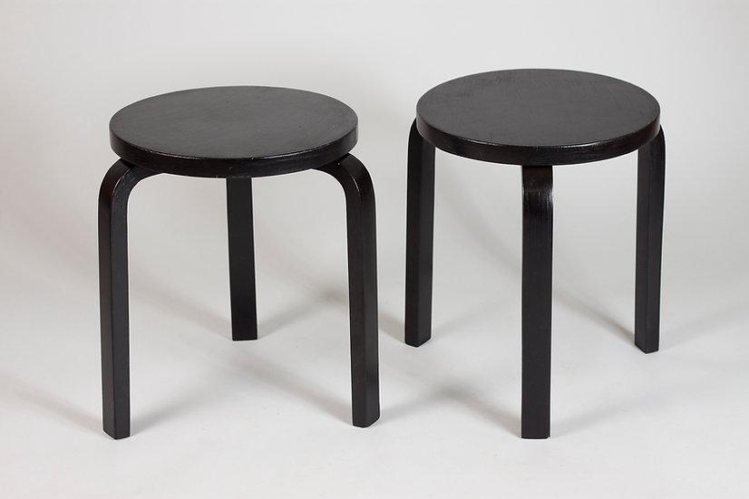 Alvar Aalto, Pair of Early 60 Stools