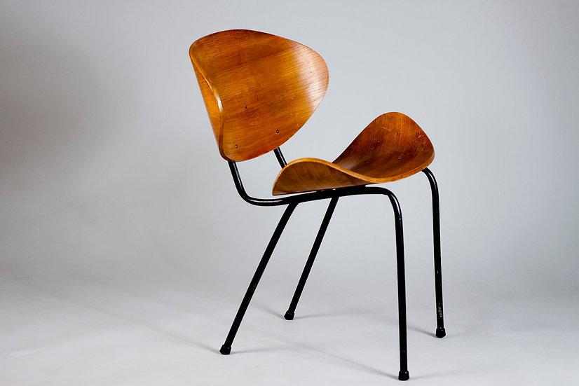 """Ola """"Olof"""" Kettunen, Mid-Century Modern Chair for Merivaara, Finland"""