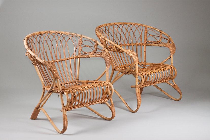 Rattan chair lumikenkä Parolan rottinki parola finnish scandinavian nordic midcentury modern table vintage nordisten