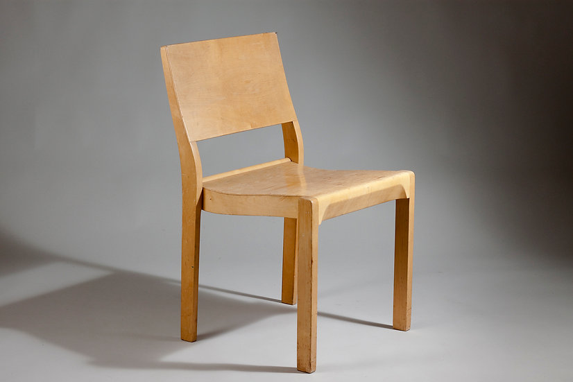 Alvar Aalto Mid-Century Modern Birch Chair 11/611 for Artek, Finland