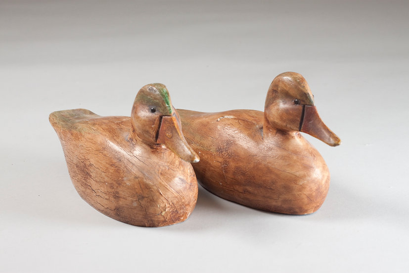 Pair of Vintage Decorative Duck Birds