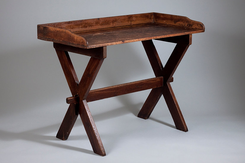 Antique 19th Century X-leg Table with Beautiful Patina