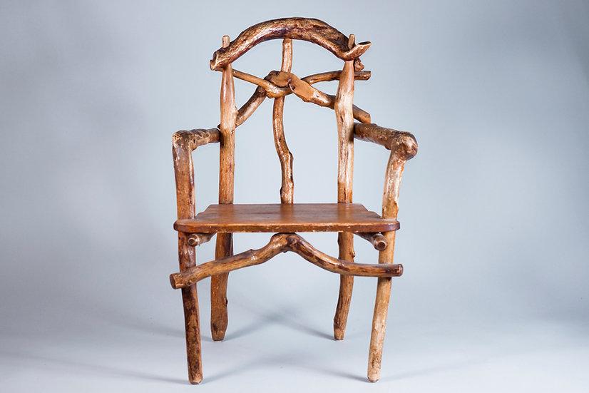 Early 20th Century Hand Made Chair by Matti Savijärvi, Finland