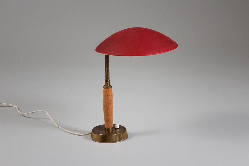 Finnish desk lamp Precenta Oy idman scandinavian design nordic vintage midcentury modern red desk lighting