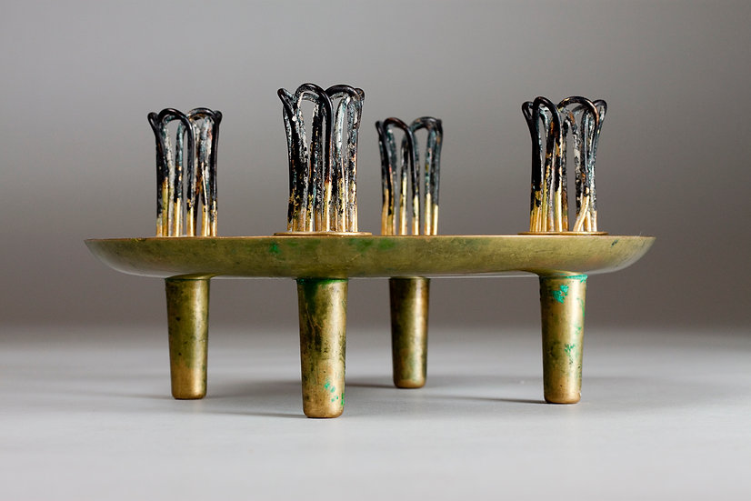 Paavo Tynell, Brass Candle Holder, Mid 20th Century, TAITO Oy