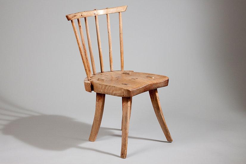 Finnish Folky Windsor Chair from Karelia