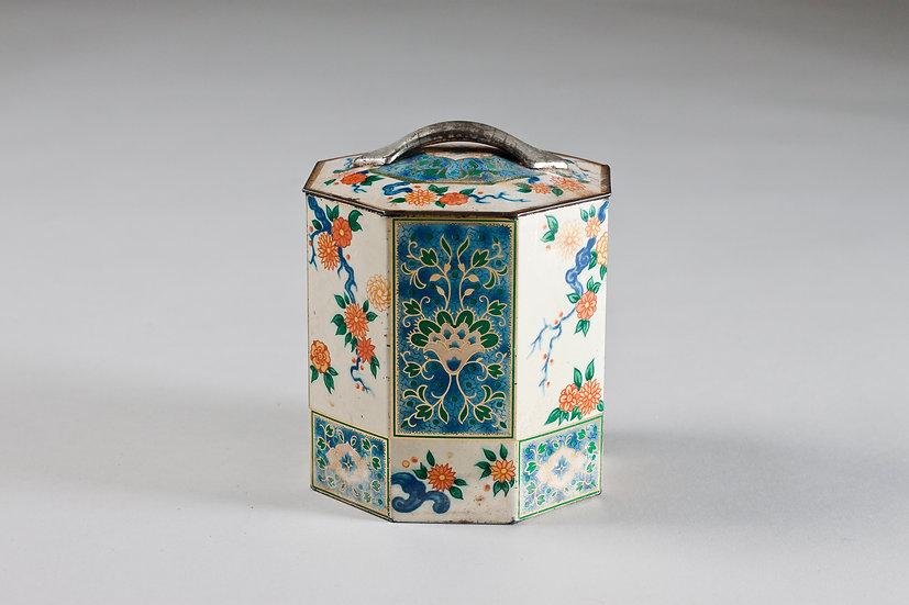 Decorative 20th Century Enamel Tin Jar