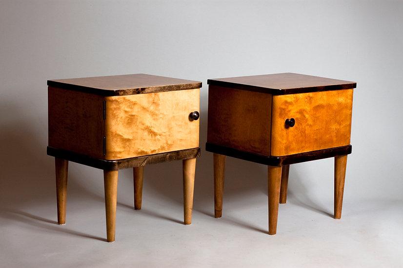 Pair of Modernist Finnish Bed Side Tables by Huonekalutehdas J. Kutvonen