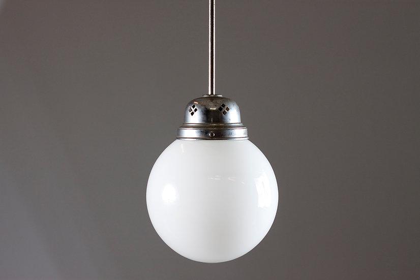 Art Deco Glass Sphere Pendant Light