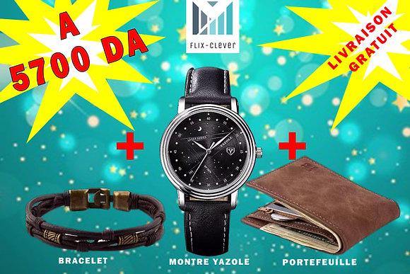 Montre + Portefeuille + Bracelet