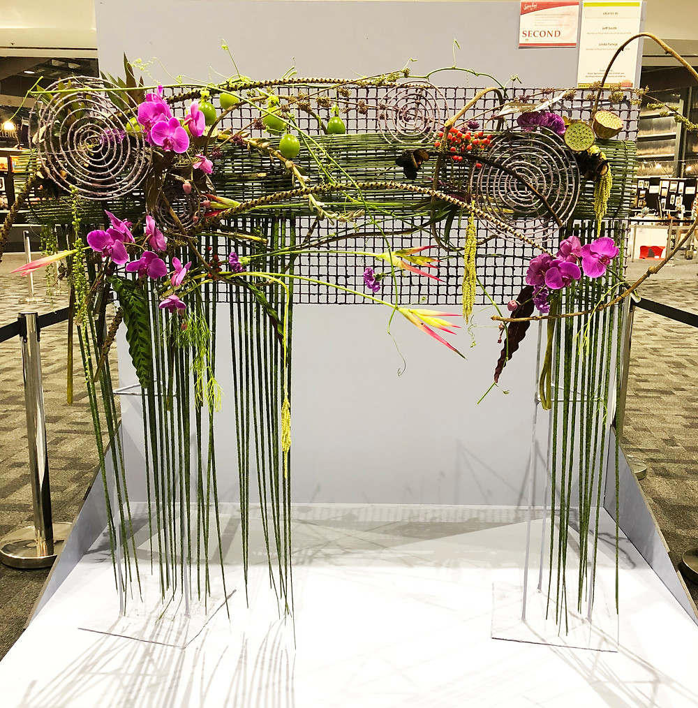 2018 National Floral Design Comp 2nd Place