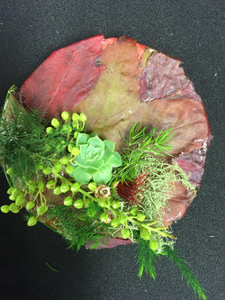 Autumn Leaves with succulents