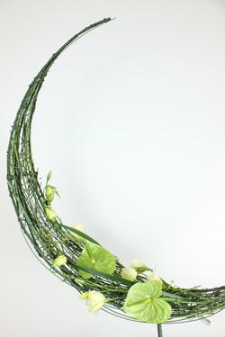 Crescent Floral Design