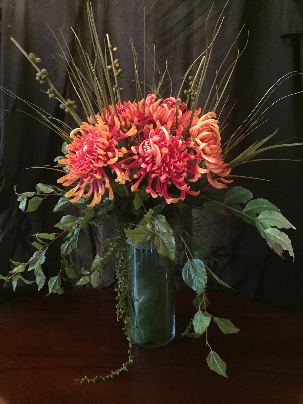 colour brought into a corporate office with a Soul Design artificial flower arrangement