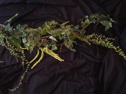 Mixed textured faux floral vine