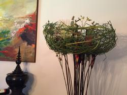 Flower basket hand crafted