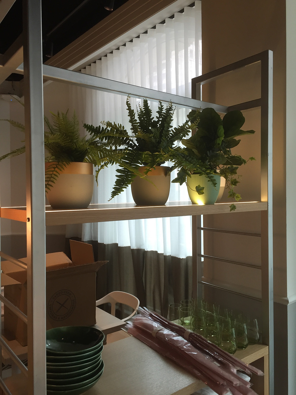 faux artificial potted plants for restaurant