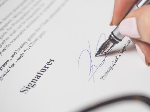 O que é importante saber antes de assinar um contrato?