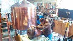Copper head polishing