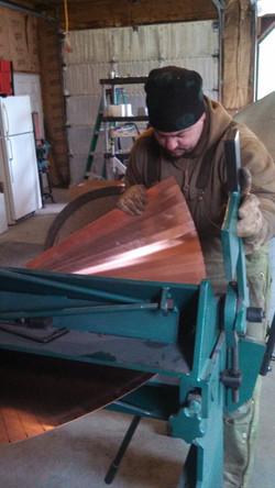 Shaping copper cone