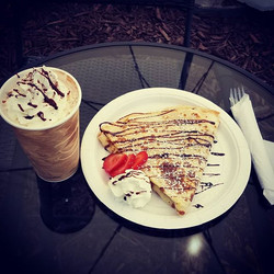 Crepes and coffee by candle light_ That's right!!! Join us every Friday and Saturday from 6-10 PM fo