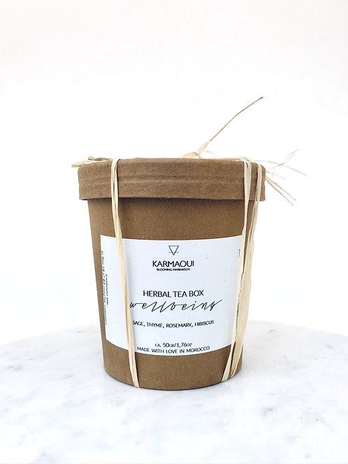 HERBAL TEA BOX WELLBEING - SET OF TWO