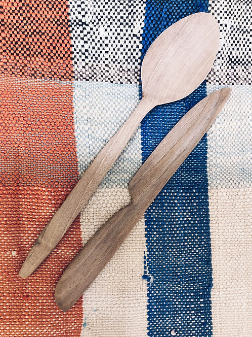 Set of Wooden Knife and Spoon
