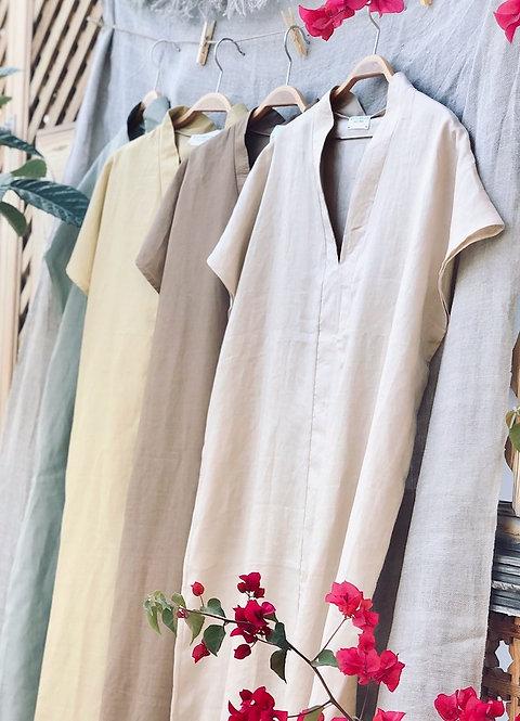 THE CAFTAN DRESS OUM LINEN