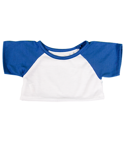 White Tee with Royal Blue Sleeves (16-inch)