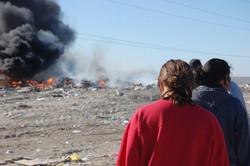 Walking at the dump
