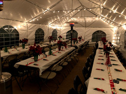 Decorated tables and tent