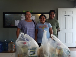 Cynthia and Brayan with their mom