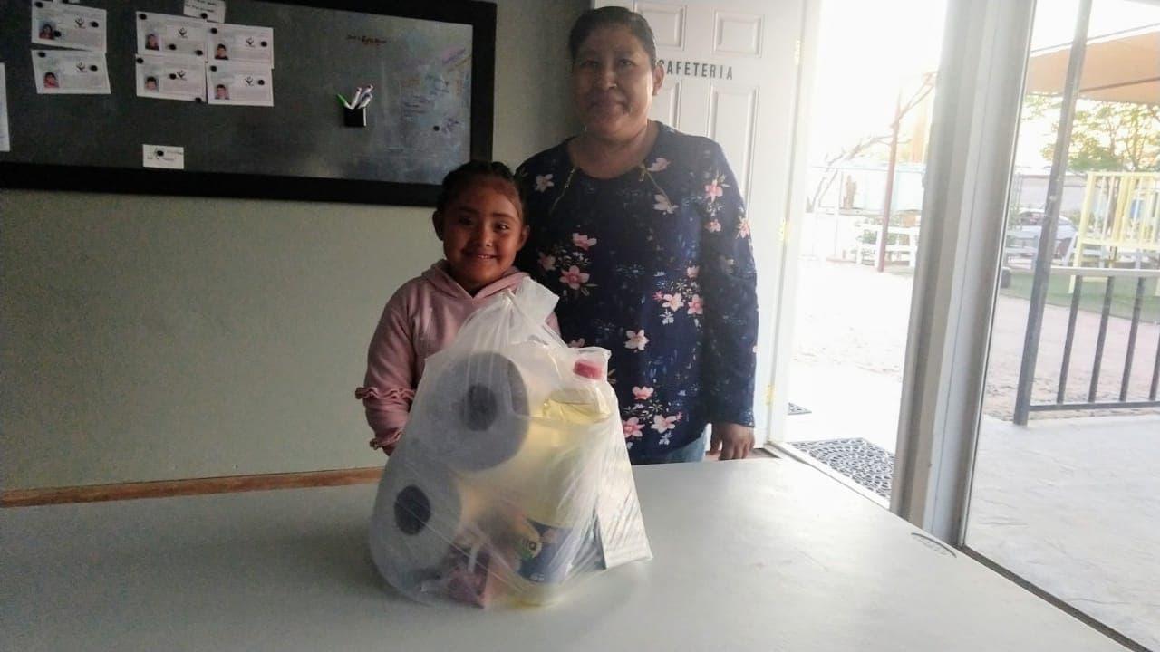 Nimsi with her grandma