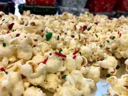 White choc. covered popcorn we gave