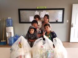 Alexis, Josue, & Esteban with their mom and sister