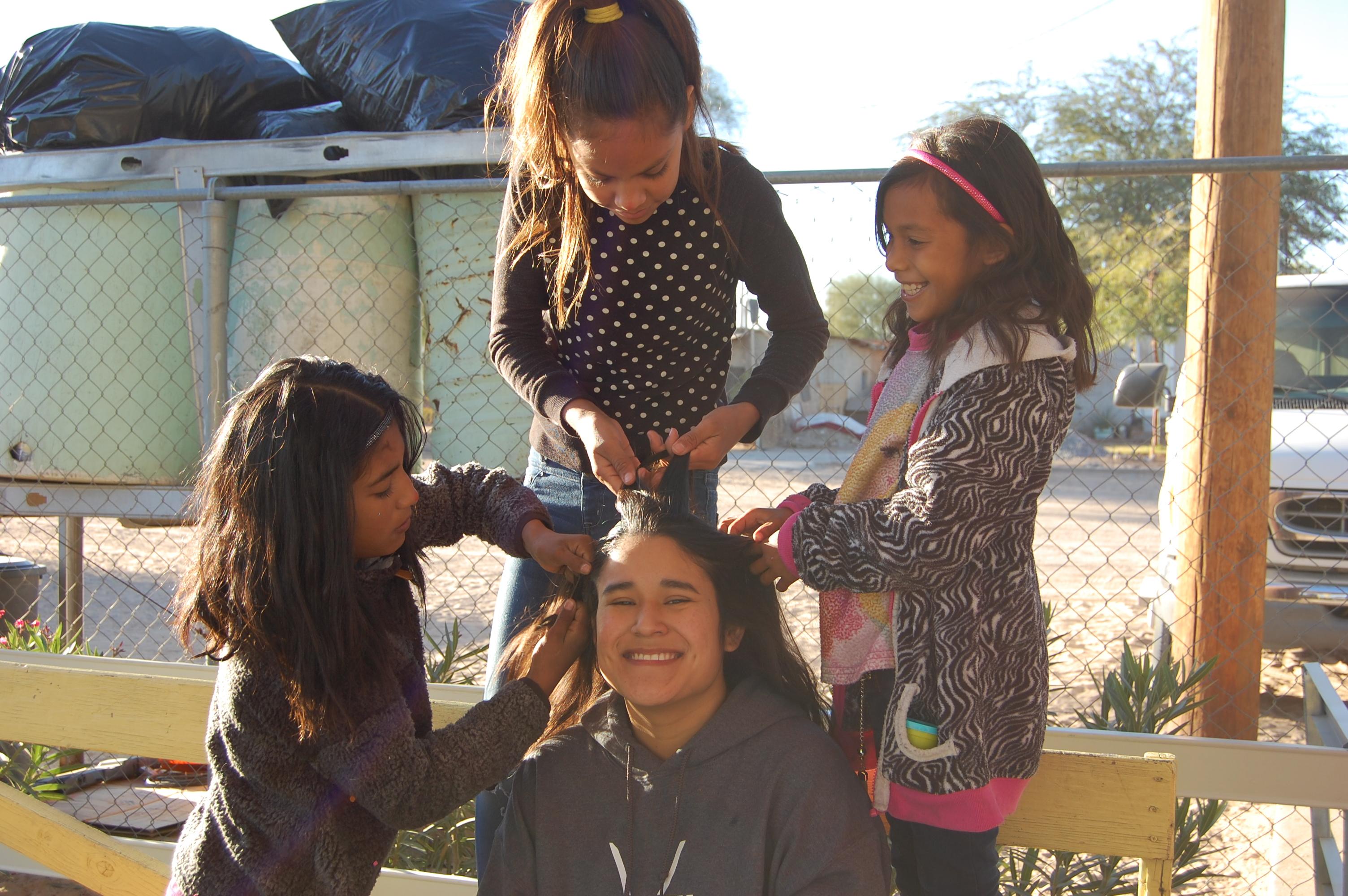 Fun doing a team member's hair