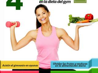 4 Errores de la dieta del GYM