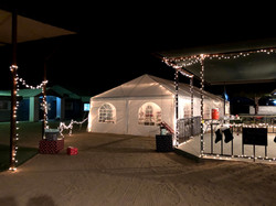 Decorated and lit for the fiesta