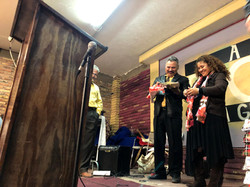 Pastor Joel & wife Lydia with gifts