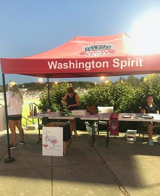 NWSL Game - Washington Spirit Booth