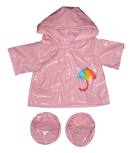 Pink Raincoat and Boots