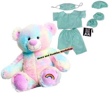 Bear/Buddy with Scrubs Outfit