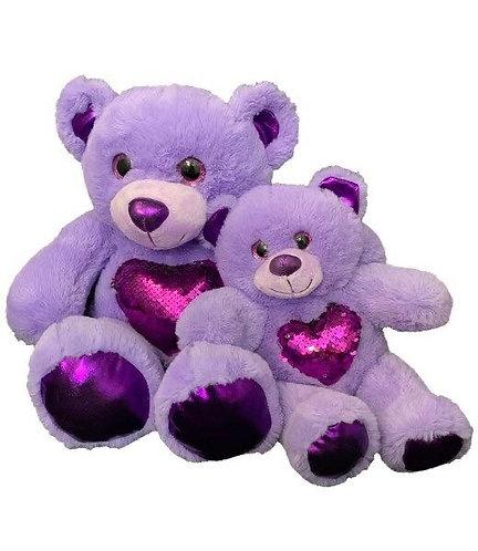 Purple Magic Sequin Bear